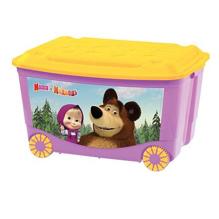 Ящик для игрушек Маша и Медведь Маша и Медведь на колесах в ассортименте