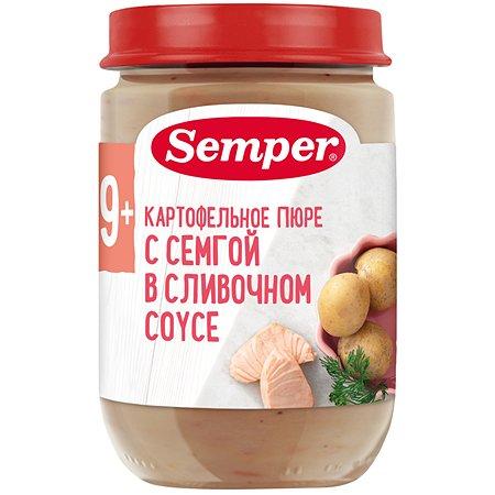 Пюре Semper картофель-семга-сливочный соус 190 г с 12 месяцев