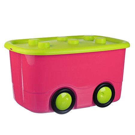 Ящик д/игрушек IDEA МОБИ 40л 32*41*60 малиновый