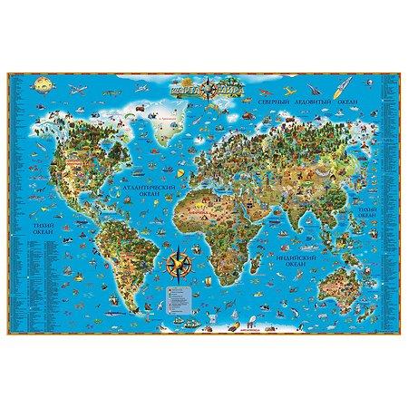 Карта мира для детей Ди Эм Би ОСН1234461
