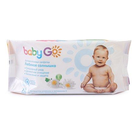 Салфетки влажные Baby Go рифленные 72шт ЦО001656