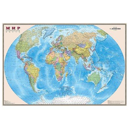 Карта мира политическая Ди Эм Би 1:20млн ОСН1234470