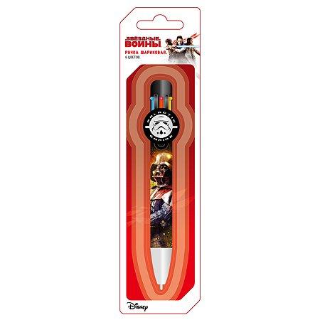 Ручка Disney Lucasfilm Star Wars шариковая автомат 6-ти цветная на блистере
