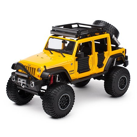 Машинка MAISTO 1:24 Jeep Wrangler Unlimited 32523 Желтая