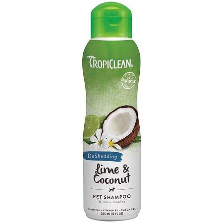 Шампунь для собак TropiClean от линьки лайм и кокос 355мл