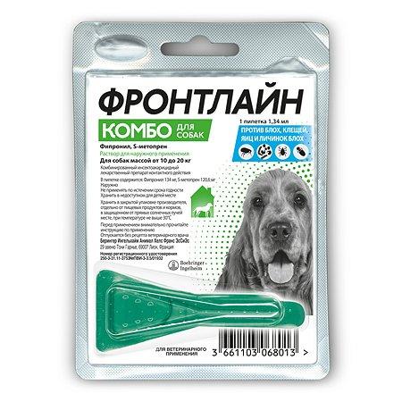 Препарат противопаразитарный для собак Boehringer Ingelheim Фронтлайн Комбо M 1.34г пипетка