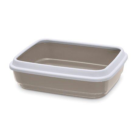 Туалет для кошек IMAC Jerry с бортом Cветло-серый