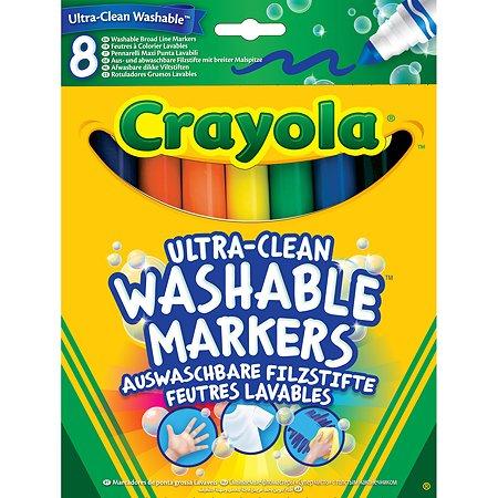 Смываемые фломастеры Crayola Супер чисто с толстым наконечником, 8 шт.