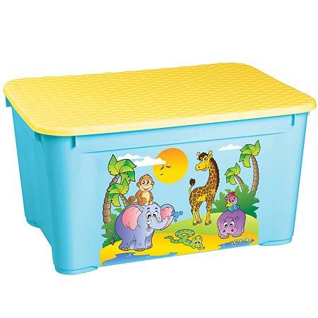 Ящик для игрушек Пластишка с аппликацией в ассортименте