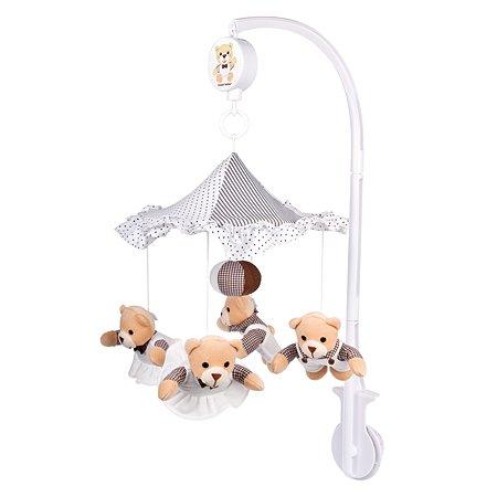 Карусель музыкальная Canpol Babies Медвежата под зонтиком(плюш)