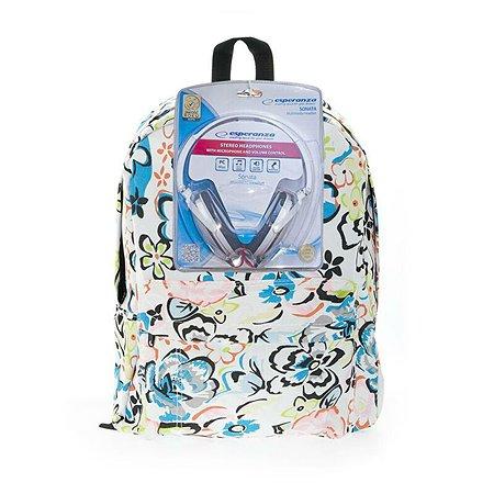 Рюкзак с наушниками 3D-Bags Цветы  (мульти)