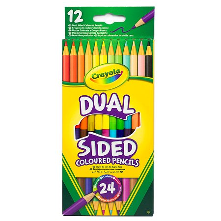 Карандаши Crayola двусторонние, 12 шт