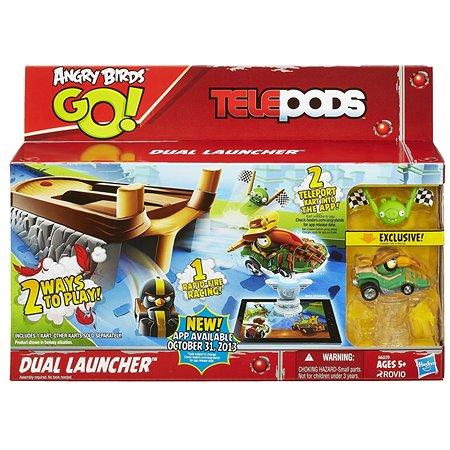 Набор с запускаемыммеханизмом Angry Birds Go! Telepods 2 карта + база