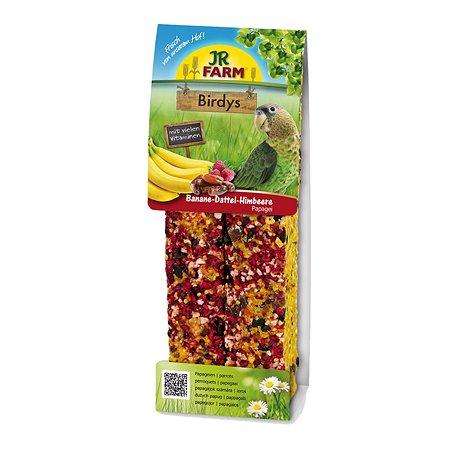 Лакомство для попугаев JR Farm Палочки с бананом и фиником 2шт