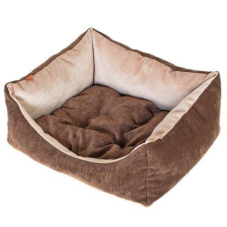 Лежак для собак Happy Puppy 2сторонний 3 Кофе