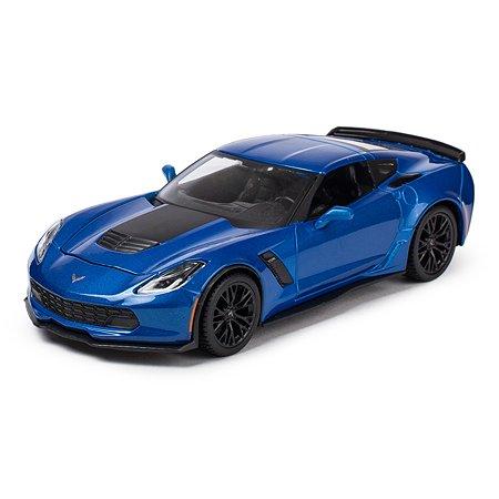 Машинка MAISTO 1:24 Corvette Голубая 31133