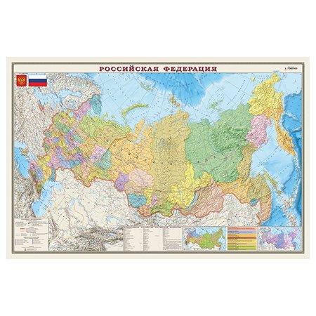 Карта РФ политико-административная Ди Эм Би 1:7млн ОСН1234510
