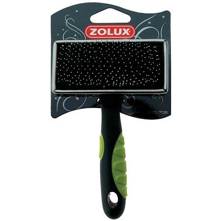 Щетка-пуходерка Zolux металлическая малая Черно-зеленая