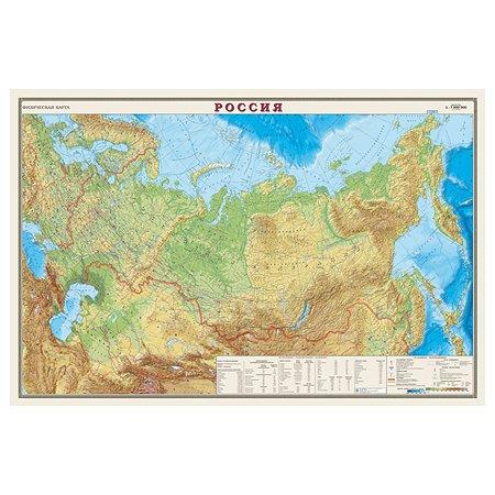 Карта России физическая Ди Эм Би 1:7млн ОСН1234519