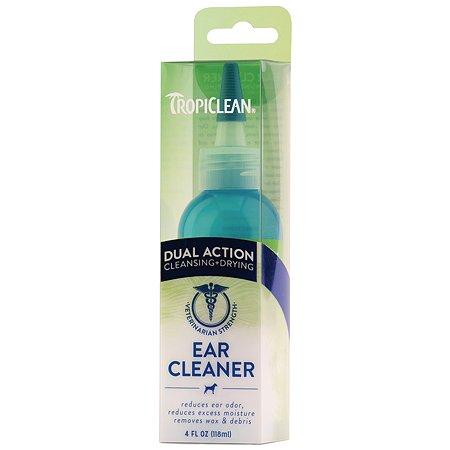 Средство для чистки ушей животных TropiClean двойное действие 118мл
