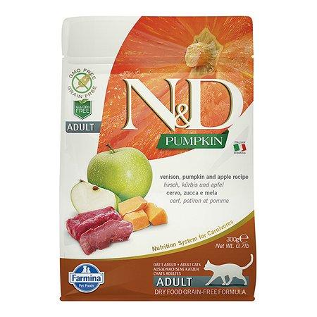 Корм сухой для кошек Farmina ND 300г оленина яблоко тыква
