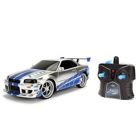 Машина Jada Fast and Furious РУ 1:24 Nissan Skyline GT-R 2002 Серебряная 99371