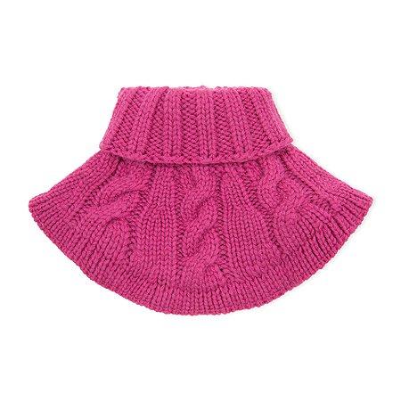 Шарф-манишка BabyGo ярко-розовый