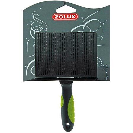 Щетка-пуходерка Zolux самоочищающаяся большая Черно-зеленая