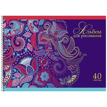 Альбом для рисования Prof Press Цветы и абстракция А4 40л 40-0224