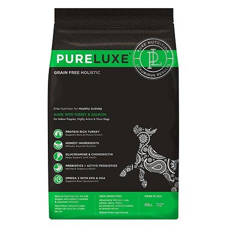 Корм для собак Pureluxe активных с индейкой и лососем 1.81кг