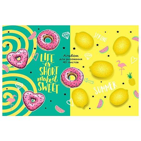 Альбом для рисования Prof Press Лимоны и пончики А4 40л 40-5469