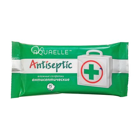 Салфетки влажные AQUAELLE Antiseptic антисептические 15шт AQ01095293