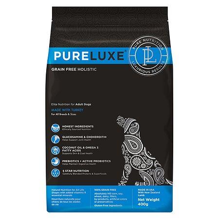Корм для собак Pureluxe с индейкой 400г