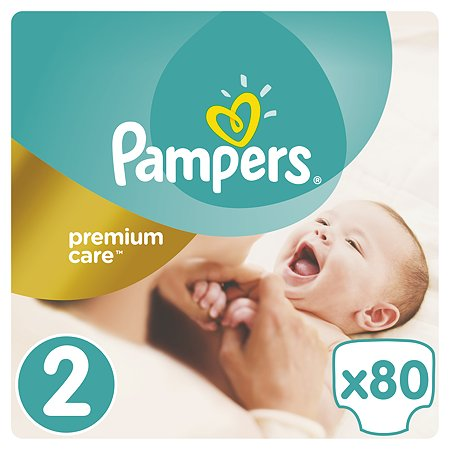 Подгузники Pampers Premium Care 3-6кг 80шт