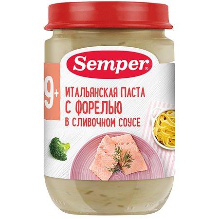 Пюре Semper форель-сливочный соус 190 г с 9 месяцев