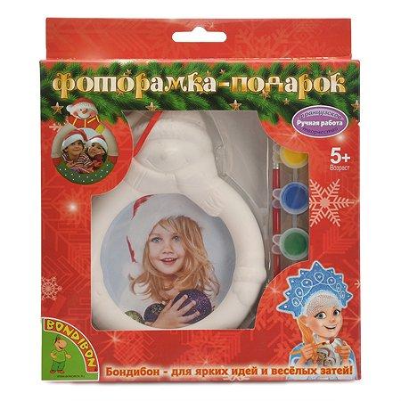 Набор для творчества Bondibon Фоторамка-подарок Снеговик ВВ1349