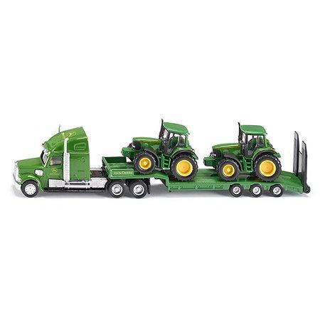 Тягач SIKU John Deere 1:87 с 2 тракторами Зеленый 1837