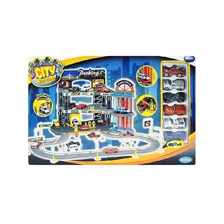 Гараж Dave Toy Люкс с 6 машинками