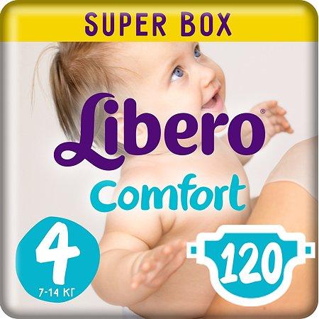 Подгузники Libero Comfort 4 7-14кг 120шт