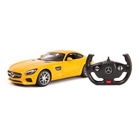 Машина Rastar РУ 1:14 Mercedes AMG GT Желтая 74010