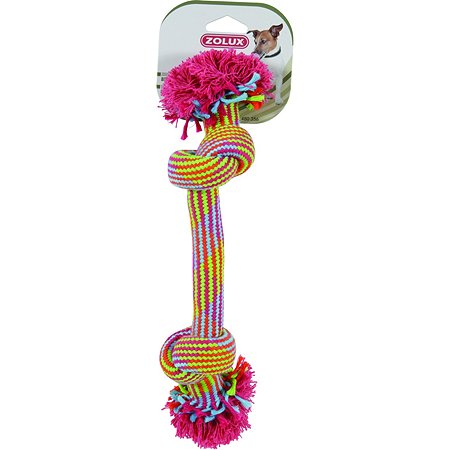 Игрушка для собак Zolux Веревка с 2узлами средняя Мультицвет