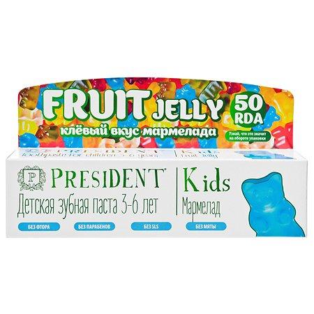 Зубная паста President Kids Fruit Jelly Мармелад 50мл 3-6лет