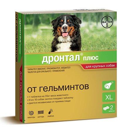 Таблетки для собак BAYER Дронтал плюс против глистов XL 2таблетки