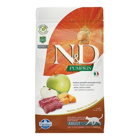 Корм сухой для кошек Farmina ND 1.5кг оленина-яблоко-тыква
