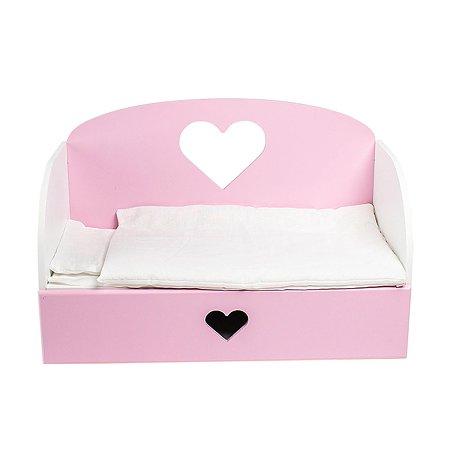 Мебель для кукол PAREMO Диван–кровать Сердце Розовый PFD120-16