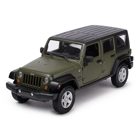 Машинка MAISTO 1:24 Jeep Wrangler Unlimited Зеленая 31268