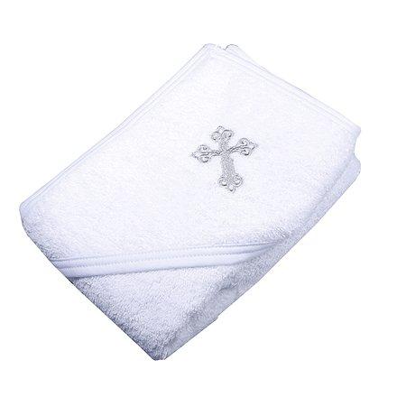Полотенце-уголок Babyton с вышивкой Белое