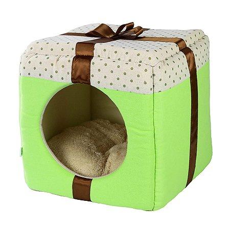 Домик для животных Не один дома Лучший подарок L Зеленый