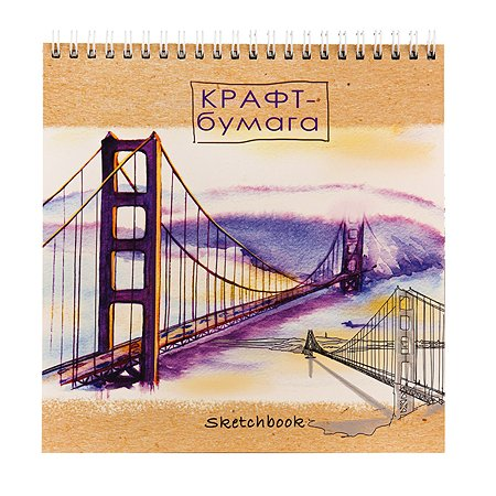 Скетчбук Prof Press Акварельный мост 40л 40-5655