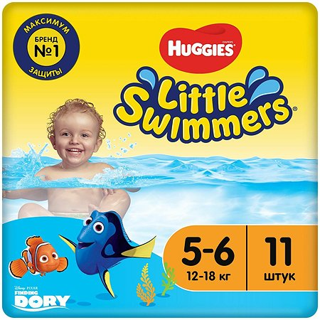 Подгузники для плавания Huggies Little Swimmers 5-6 12-18кг 11шт